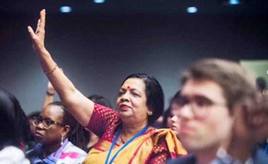 Photo of संयुक्त राष्ट्र: नंदिनी न्यूयॉर्क के टाउन हॉल की बैठक में