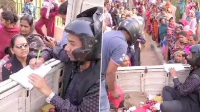 Photo of प्याज की बिक्री: बचाव में बिस्कोमान कर्मचारियों ने पहना हेलमेट